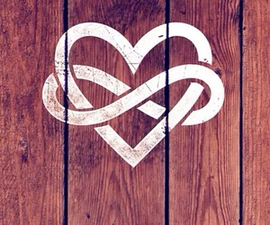 love, heart, and infinity image