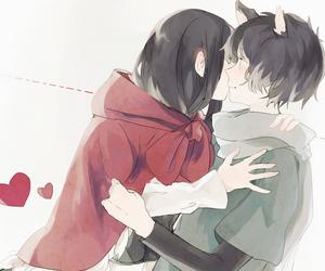 anime, neko, and love image
