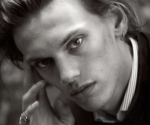 Jamie Campbell Bower, black and white, and Hot image