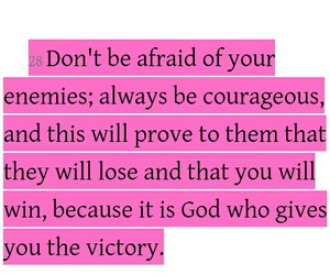 courageous, enemies, and god image