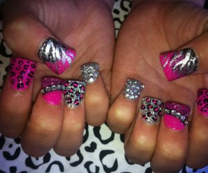 nails and zebra image