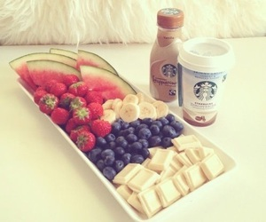 starbucks, fruit, and food image