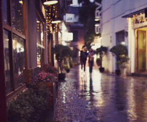 rain, street, and light image
