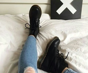 shoes, jeans, and grunge image