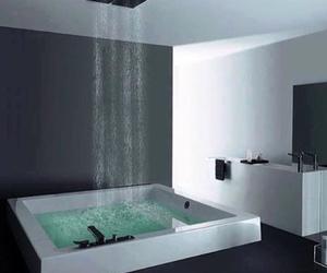 bath, bathroom, and shower image