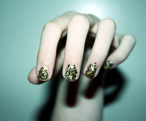 nails, glitter, and hands image