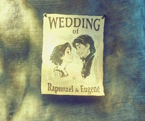 rapunzel, tangled, and wedding image