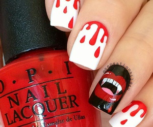blood, cool, and nail art image