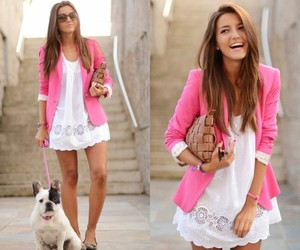 fashion, pink, and dog image