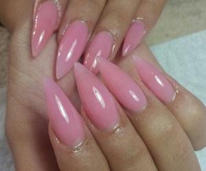 acrylic, fake nails, and gel image
