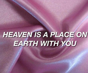 pink, quotes, and heaven image