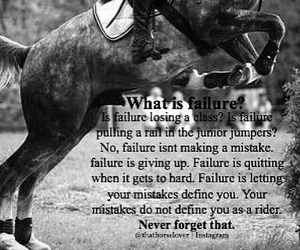 equestrian, failure, and giving up image