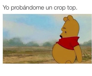 funny, pooh, and crop top image