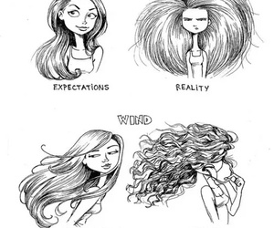 hair, funny, and reality image