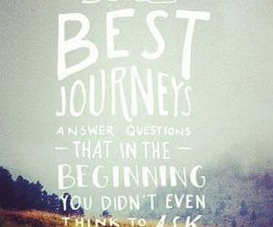 quote, journey, and travel image