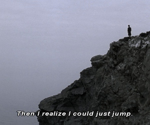 jump, suicide, and sad image