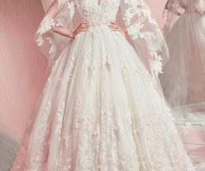 dress, weddingdress, and merrige image