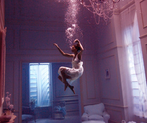 art, girl, and underwater image
