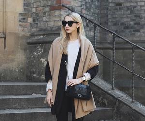 bag, sunglasses, and black image