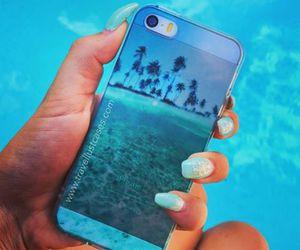 apple, blue, and sea image