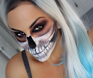 Halloween, halloween costume, and halloween makeup image