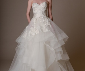 beautiful, bridal, and Marchesa image