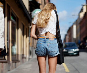blonde, legs, and shorts image