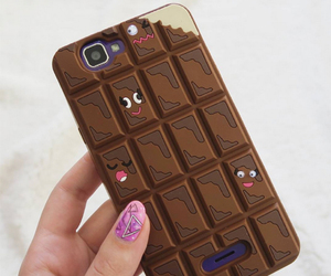 chocolate, iphone, and phone case image