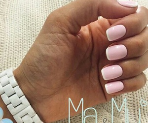 nails, french, and gelish image