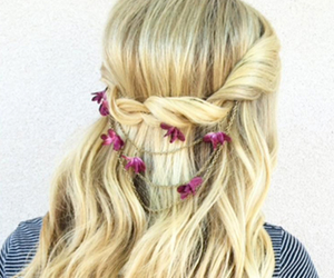 blonde, flower, and claires image