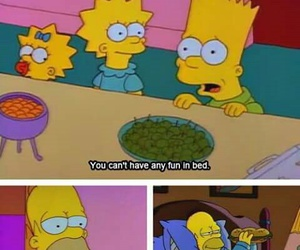 bed, fun, and simpsons image