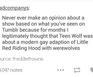 hilarious, opinions, and red riding hood image