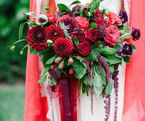 bouquet, fall wedding, and fall image