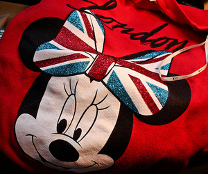 london, red, and disney image