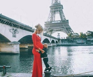 paris, family, and pregnant image