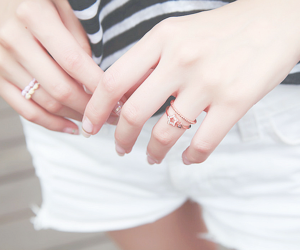 girl, rings, and hands image