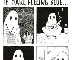 ghost, blue, and sad image