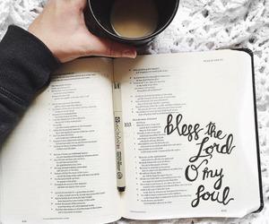 bible and coffee image
