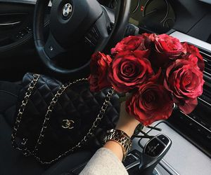rose, chanel, and bmw image