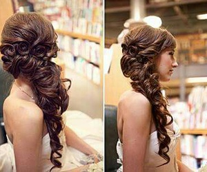 brunnette, hair, and hairstyle image