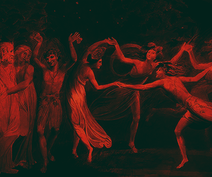 art, dance, and red image