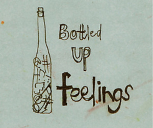 feelings, bottle, and text image