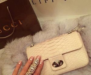 bag, nails, and fashion image