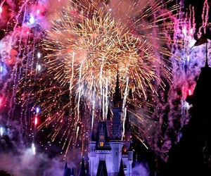 disney, fireworks, and magic image