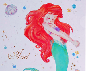 disney, ariel, and disney princess image