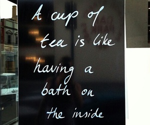 tea, quotes, and bath image