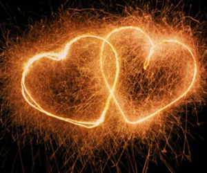 heart, fireworks, and Silvester image