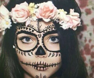 Halloween, flowers, and makeup image