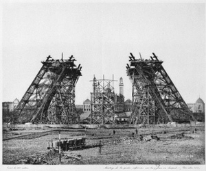 eiffel tower, paris, and vintage image
