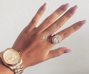 nails, watch, and luxury image
